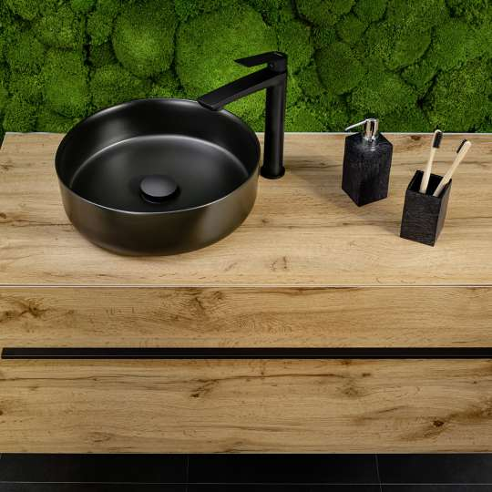 Fackelmann: Lanzet Woodblock- Waschbecken mit Waschtisch
