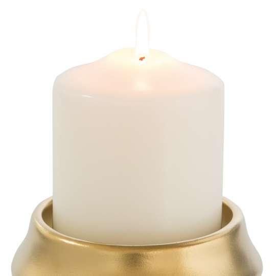 Fink Living FABIA / Stumpenhalter, Keramik, goldfarben 128033