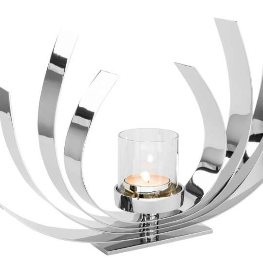 AURORA / Maxi-Teelichthalter, vernickelt 158649