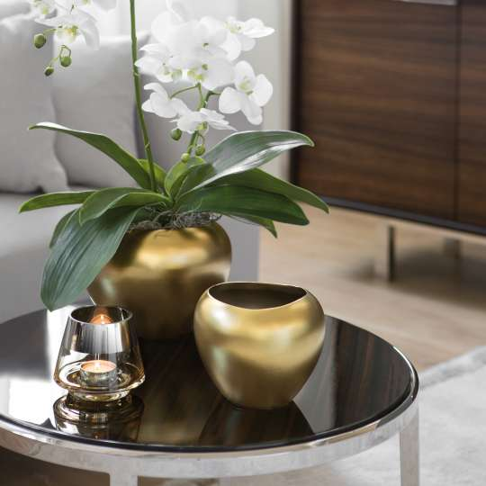 Fink Living AVA / Vase, Keramik, goldfarben