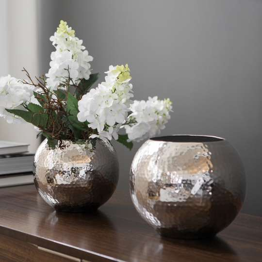 Fink Living MOON / Vase vernickelt, gehämmert