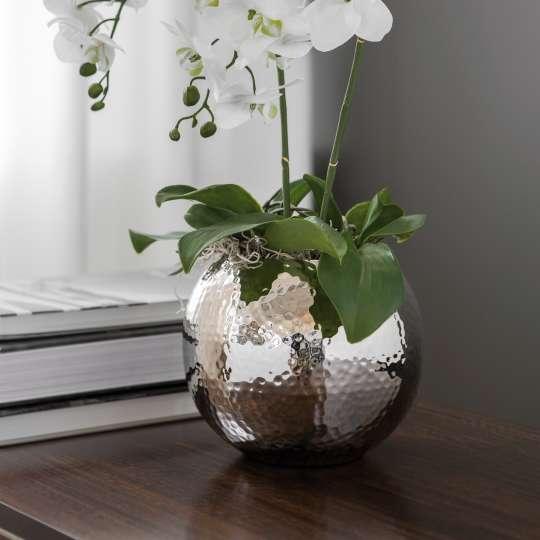 Fink Living MOON / Vase vernickelt, gehämmert 157096