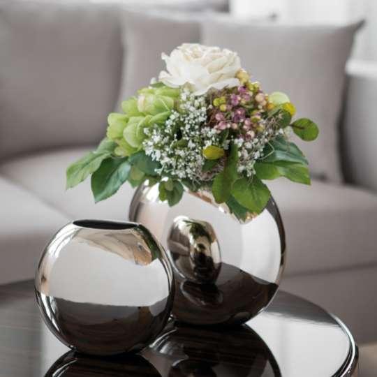 Fink Living LUNA / Vase, vernickelt Milieu