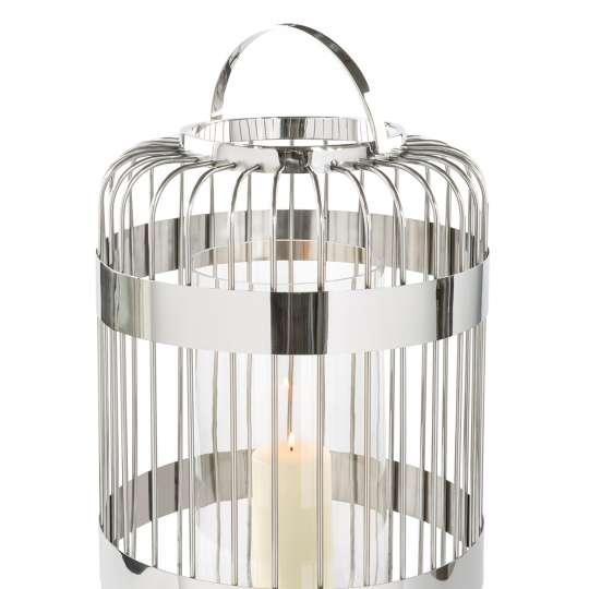 Fink Living / Neuheiten Frühjahr 2020/ Windlicht 159041 CAMERON  mit Glas, Edelstahl