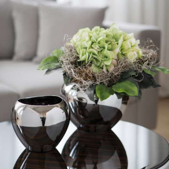 Fink Living AVA / Keramik, silberfarben Milieu