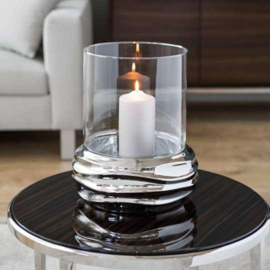 Fink Living FABIA Windlicht mit Glaszylinder 128031 Milieu