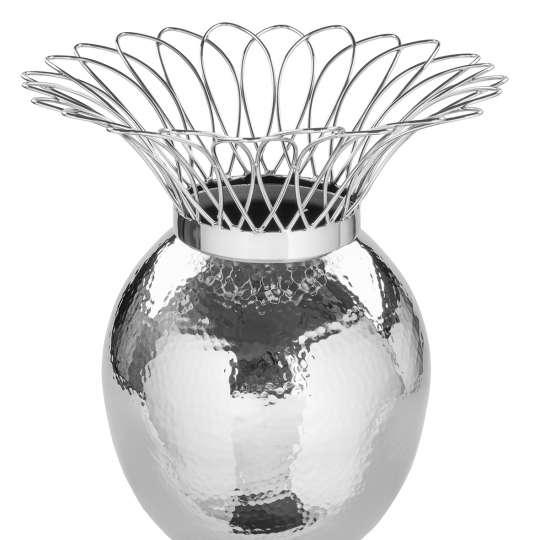 Fink Living TROPIC Vase, vernickelt, gehämmert 157084