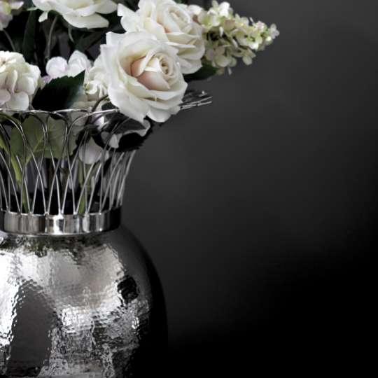 Fink Living TROPIC Vase, vernickelt, gehämmert Milieu