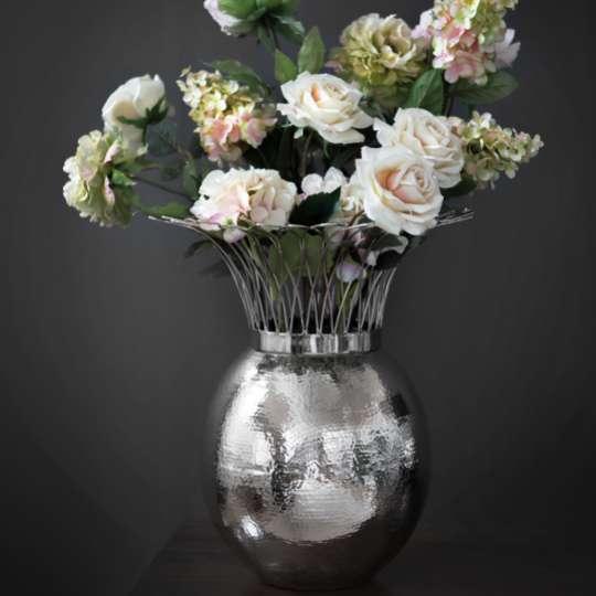 Fink Living TROPIC Vase, vernickelt, gehämmert