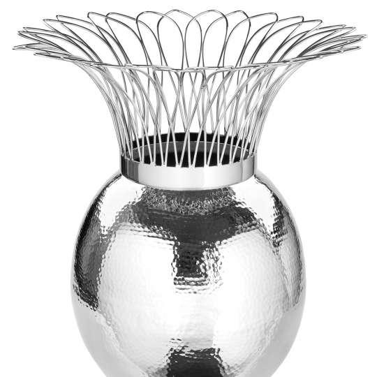 Fink Living  TROPIC Vase, vernickelt, gehämmert 157085