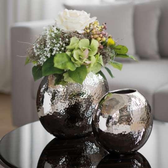 Fink Living LUNA / Vase, vernickelt, gehämmert Milieu