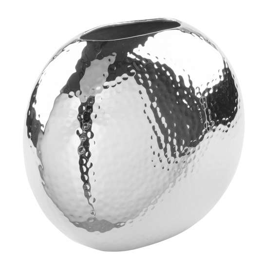Fink Living LUNA / Vase, vernickelt, gehämmert 157087