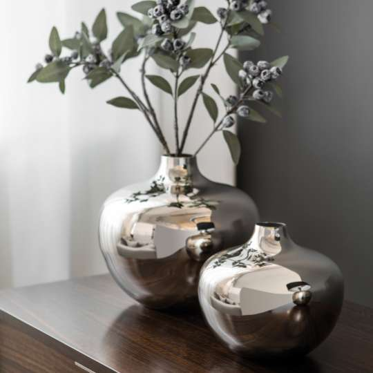 Fink Living PALLAS / Vase, vernickelt Milieu