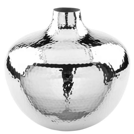 Fink Living PALLAS / Vase, vernickelt, gehämmert 157092