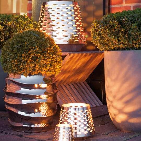 Fink Living / Neuheiten Frühjahr 2020 / Terrasse / Windlicht LUMA 159042-044 Edelstahl