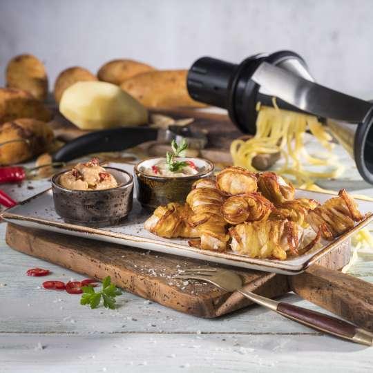 GEFU Kartoffel-Hähnchen-Nuggets mit 2 Dips