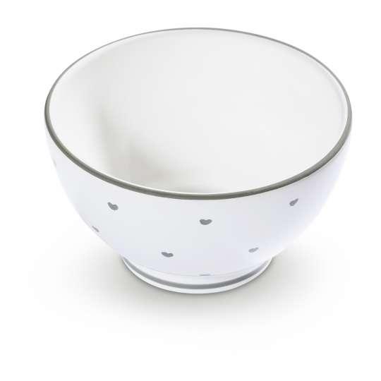Gmundner Keramik Müslischale Herzerl Grau 0013SAFR14