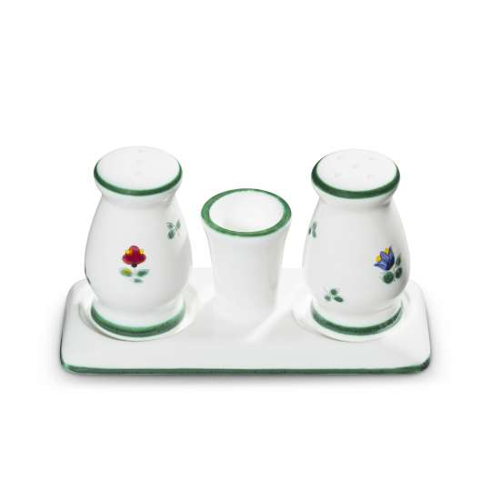 Gmundner Keramik Salz/Pfeffer Set Streublumen 0321SGBC09
