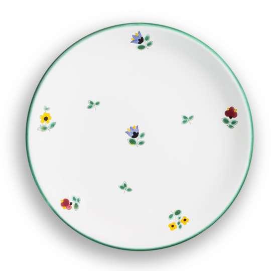 Gmundner Keramik:  Liebevolle Unikate mit Streublumendekor, Dessertteller Cup 0321TDCU20