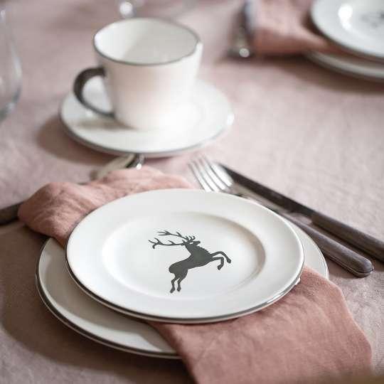 Gmundner Keramik: Muttertag / Grauer Hirsch  - Detail Kuchen 2