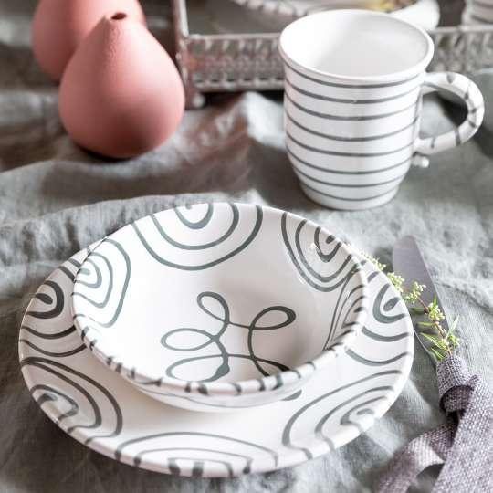 Gmundner Keramik: Graugeflammt und Pudertöne / Mood Detail