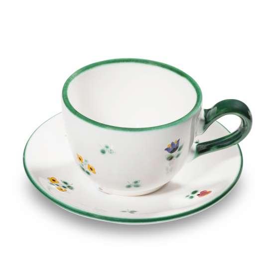 Ein Blumengruß fürs Osterfest Kaffeetasse mit Untertasse