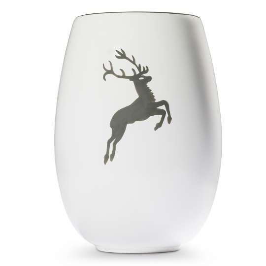 Gmundner Keramik: Muttertag / Grauer Hirsch Vase - 0319VAVA21