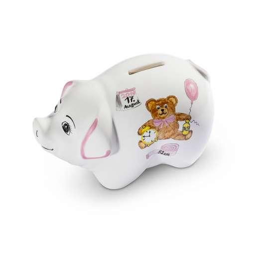 Gmundner Keramik Sparschwein Lilly / Geburt