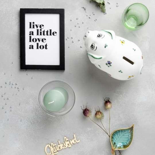 Gmundner Keramik Sparschwein Lilly / Streublumen Mood