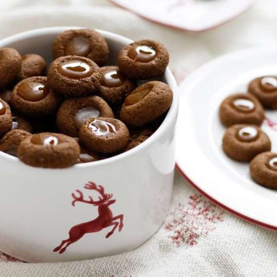Gmundner Keramik Hirsch Weihnachtskekse