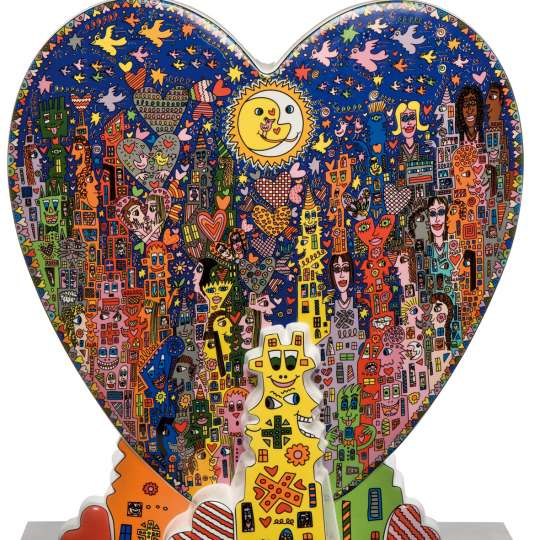 Pop Art James Rizzi Heart Times in the City
