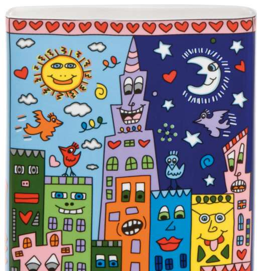 Pop Art James Rizzi Vase Love in the Heart of the City
