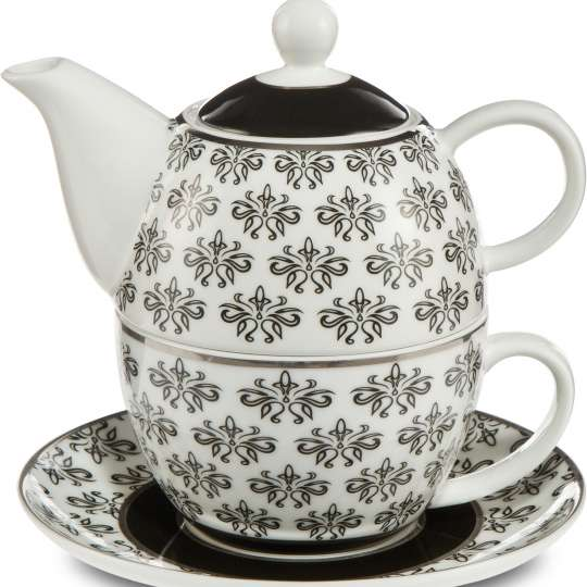 Goebel-Chateau Floral  Tea for One / Teekanne-Tasse mit Untertasse 27050661