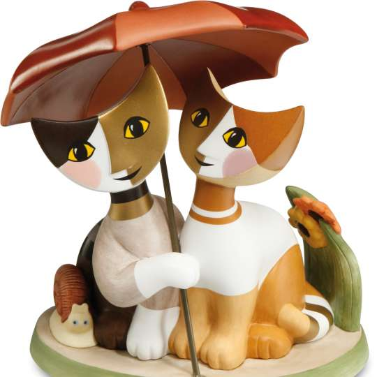 Goebel  Insieme sotto l'ombrello Katzen 31400481