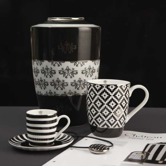 Goebel Black and White Tassen und Vase Mood