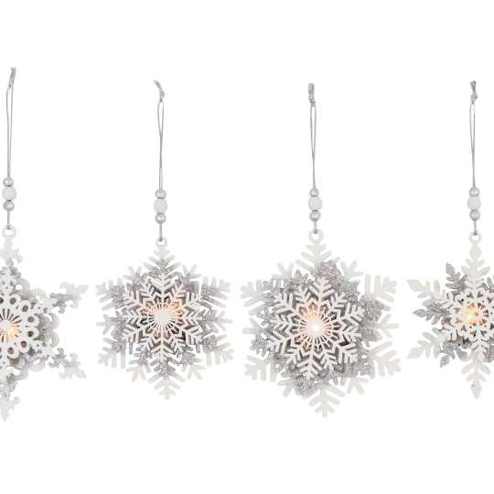 Hoff Interieur: Weiße Weihnacht LED-Sterne – Argento