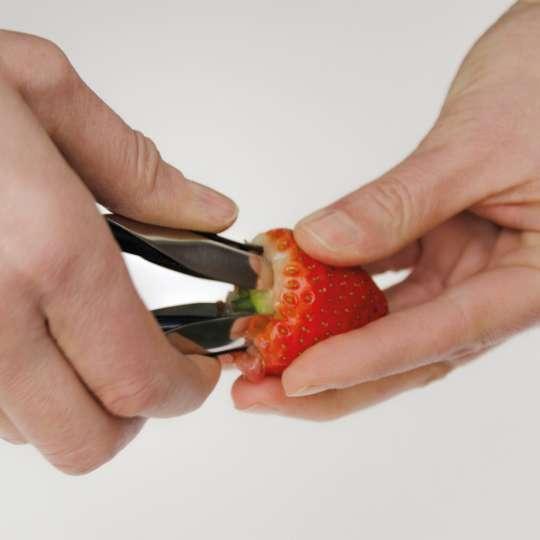 Homiez: Strunkentferner picciolo, HZ0140, Anwendung Erdbeere