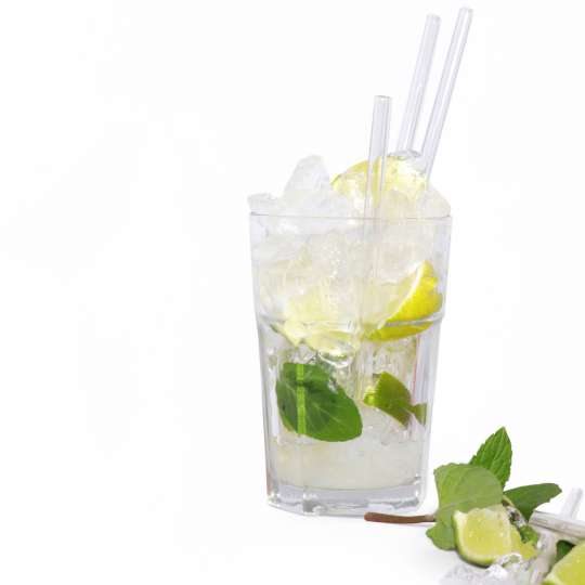 Homiez: Glastrinkhalm 'Vetro' maxi und mini, Cocktailglas