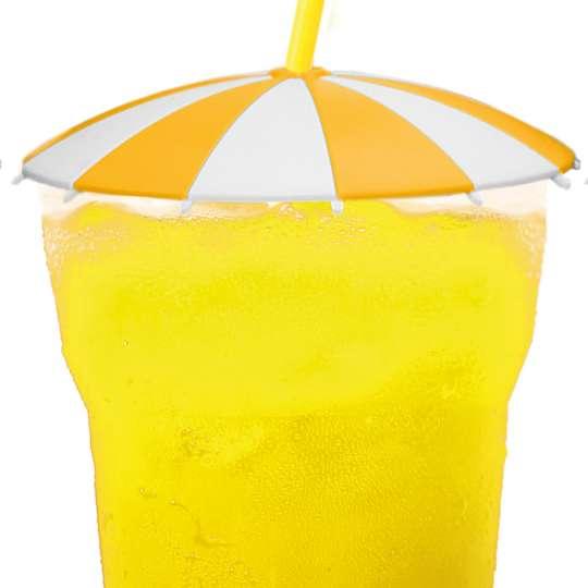 homiez Glasabdeckung SCHIRMCHEN gelb mit Glas
