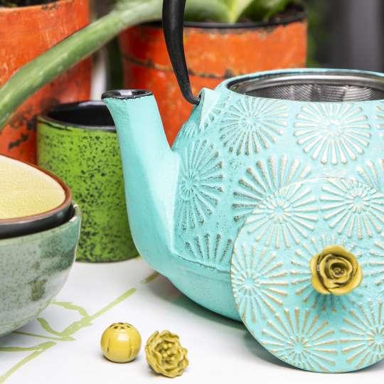 Blumig und Maritim: Teekannen von ja-unendlich / Mood Teekanne hellblau