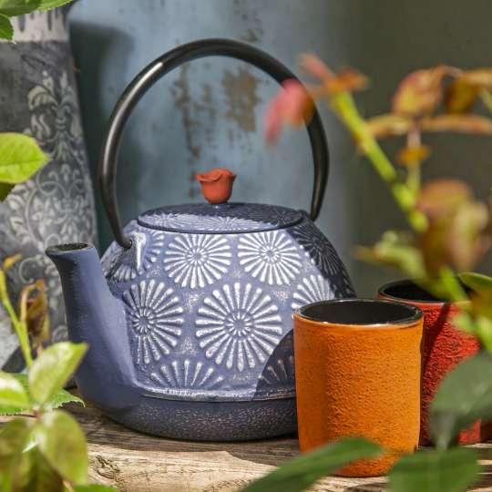 Blumig und Maritim: Teekannen von ja-unendlich / Mood Teekanne blau