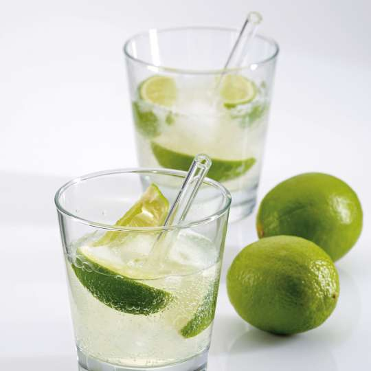 Kela: Trinkhalme Grace aus Glas / Mood Limette