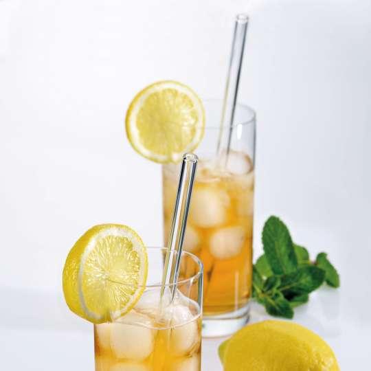 Kela: Trinkhalme Grace aus Glas / Mood Zitrone