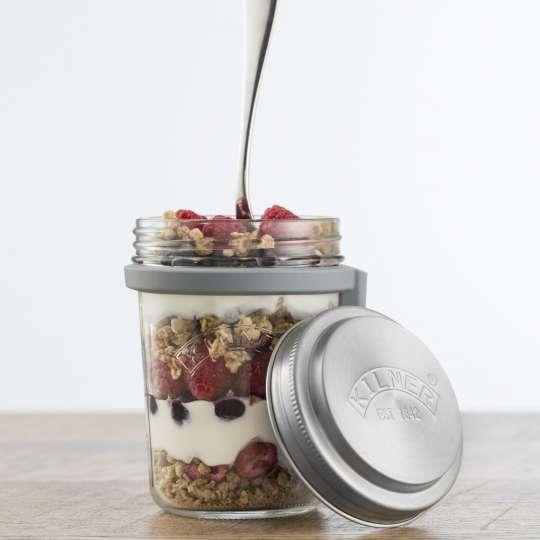 Kilner - Frühstücksglas (350 ml) mit Deckel 0025.899 Mood