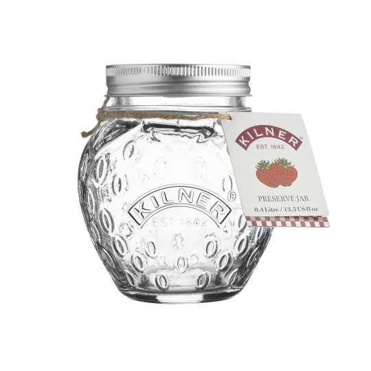 Kilner Marmeladenglas (Erdbeere) 400 ml -  0025.582 mit Etikett