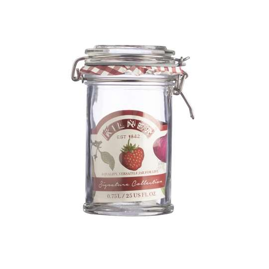 Kilner Signature Glas mit Bügelverschluss 0,75 l - 0025.805 Erdbeeren