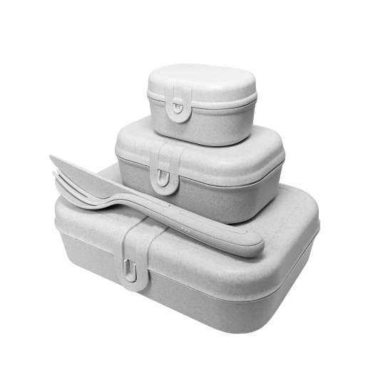 Koziol PASCAL READY  3168670 - 3 Lunchboxen + Besteckset