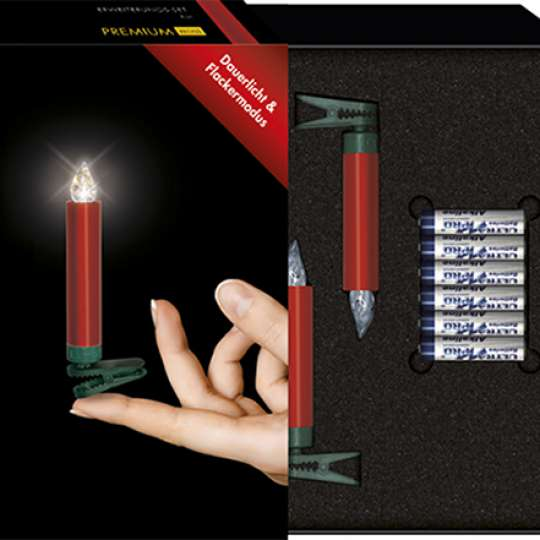 Krinner Lumix Premium Christbaumkerzen Erweiterungs-Set