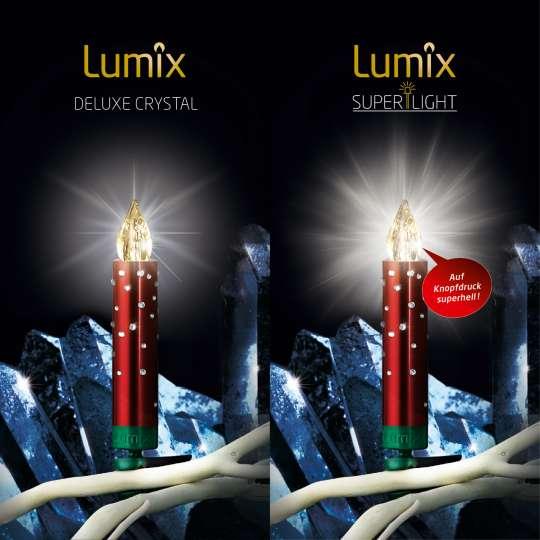 Krinner Lumix SuperLight Crystal Rot Christbaumkerzen Vergleich
