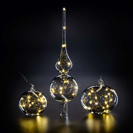 Krinner Lumix Light Balls und Tree Topper